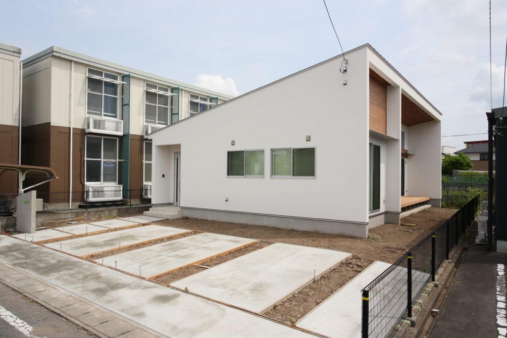 「高崎市」スタイリッシュな塗り壁の家が出来ました。